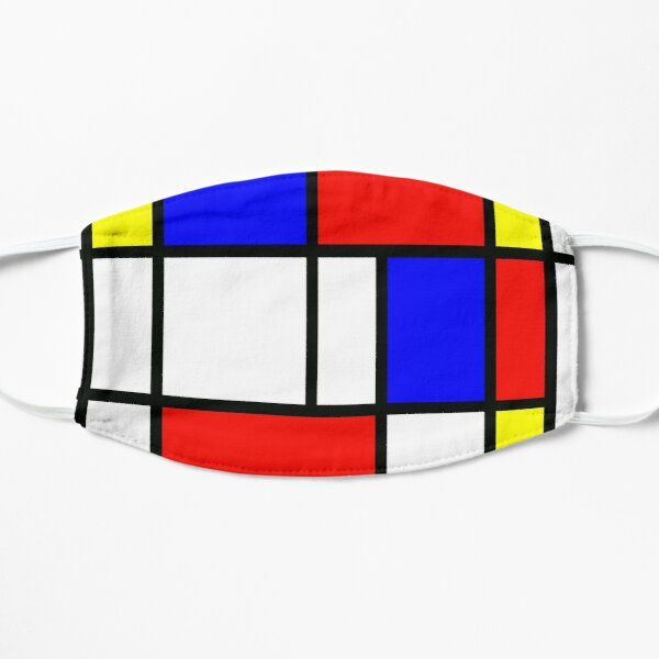Piet Mondrian Composition 2 | Color Block with Red Yellow and Blue Mask