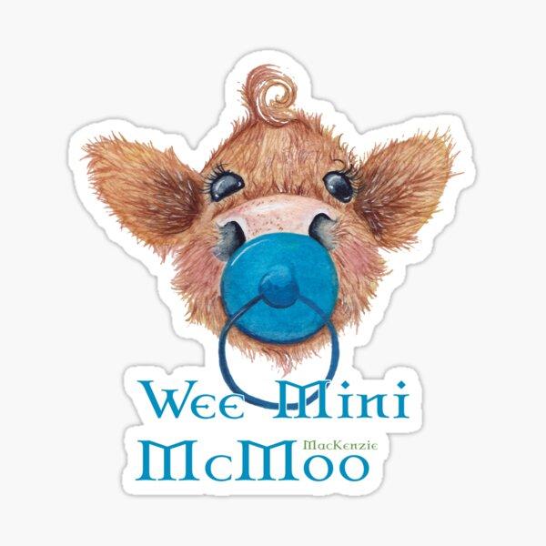 Wee Mini MacKenzie McMoo Blue Sticker
