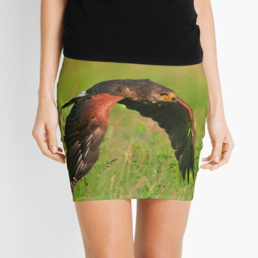Harris's Hawk in flight Mini Skirt
