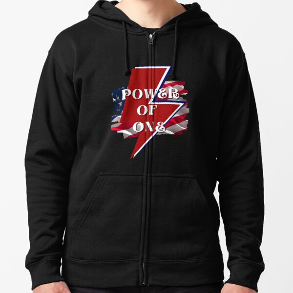 The Power of One Zipped Hoodie