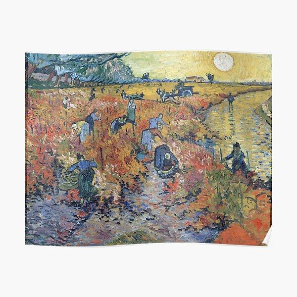 The Red Vineyards at Arles - Van Gogh Poster
