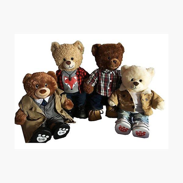 Supernatural Teddy Bear Team Free Will 2.0 Photographic Print