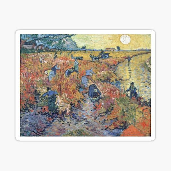 The Red Vineyards at Arles - Van Gogh Sticker