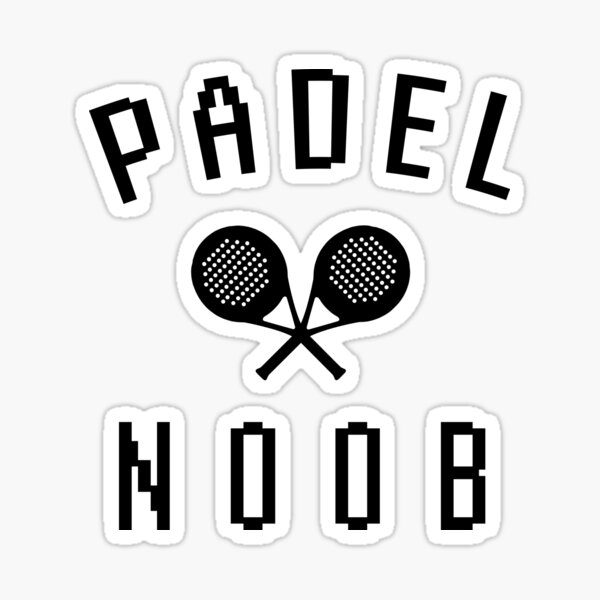 Padel Tennis N00b Sticker