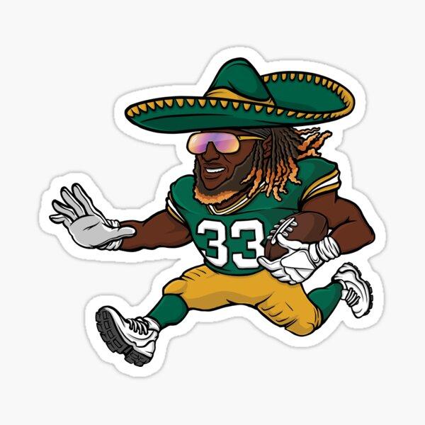 Aaron Jones Green Bay Packers Sombrero Sticker