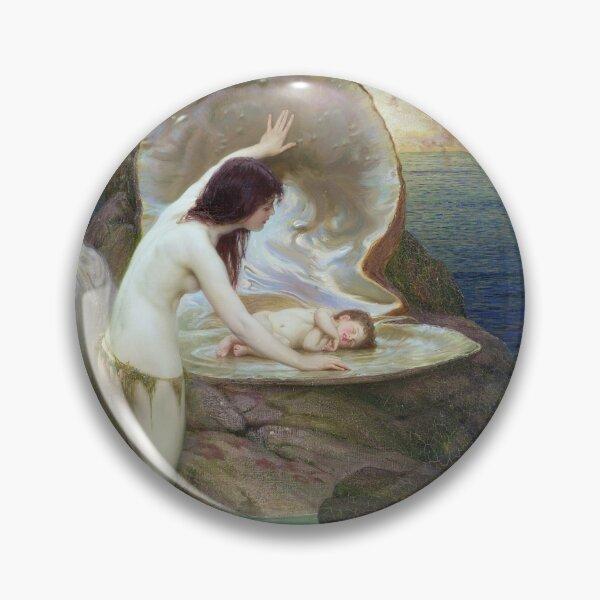 A Water Baby (c. 1900) - Herbert James Draper Badge
