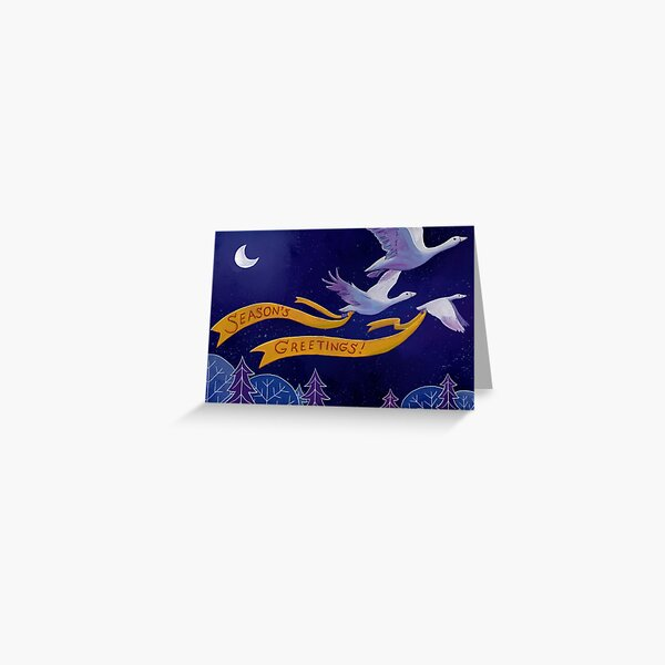 Wild Geese That Fly With The Moon On Their Wings Greeting Card