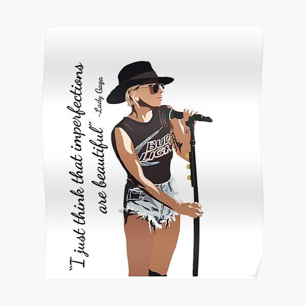 Lady Gaga Hermosas imperfecciones Póster