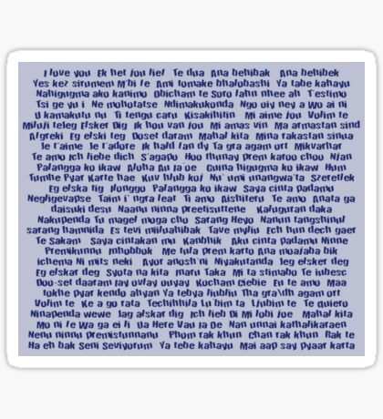 100 Ways To Say I love You For Him Sticker