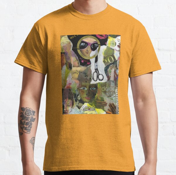 La dolce vita (collage and mixed media) Classic T-Shirt