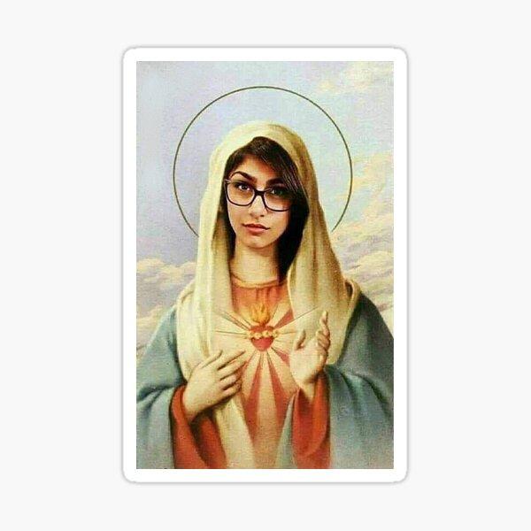 Virgin mary mia khalifa Sticker