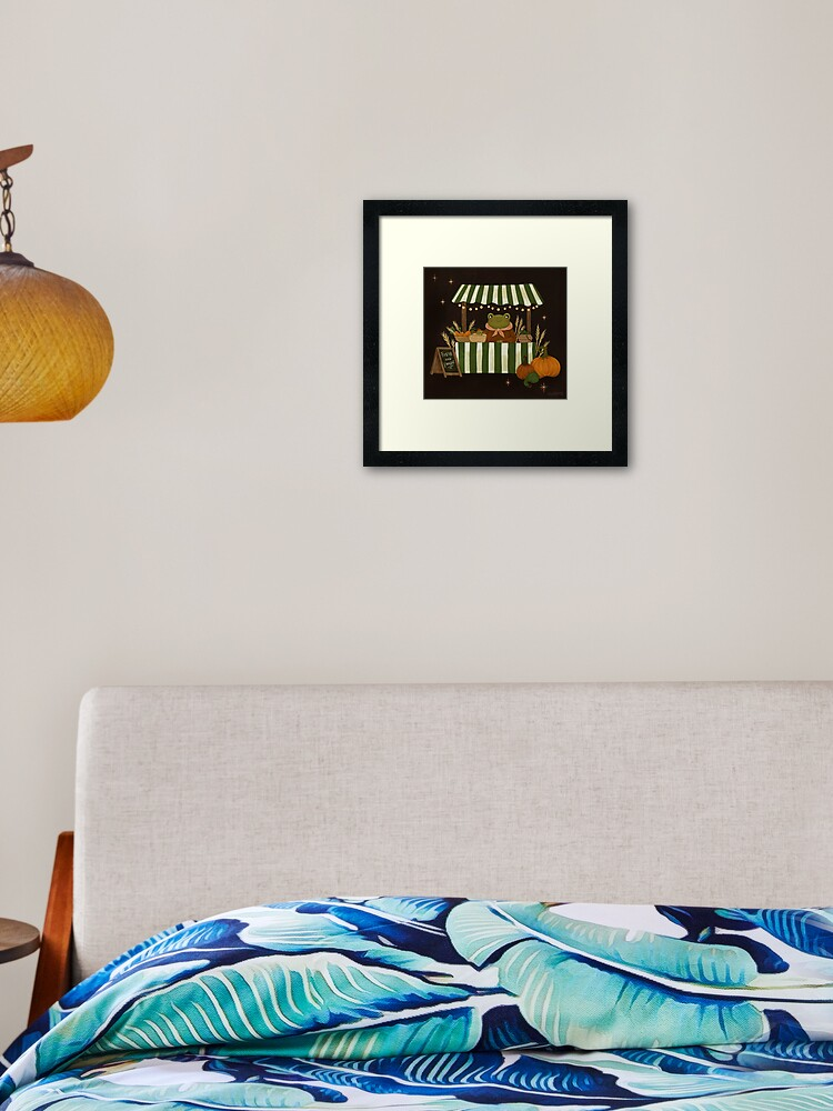 Fresh And Froggy Framed Art Print By Hwainio Redbubble