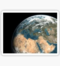 Global view of earth over Europe, Middle East, and northern Africa. Sticker