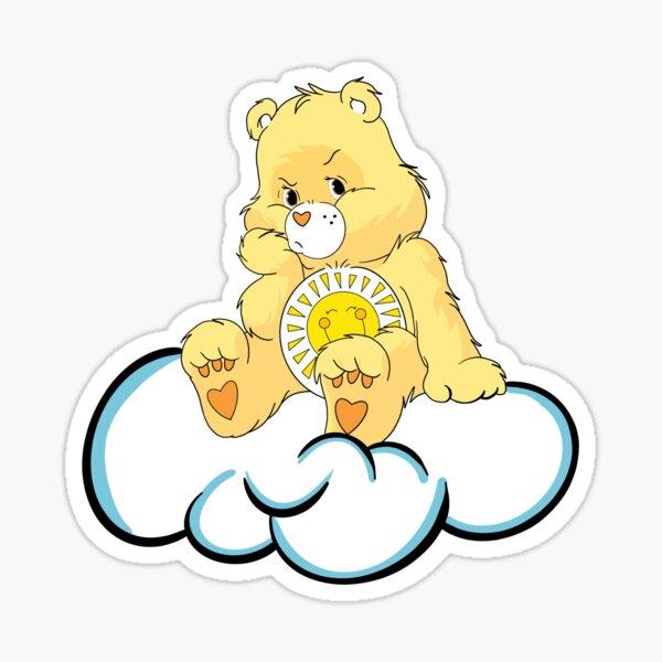 Angry Sunshine Care Bear Sticker