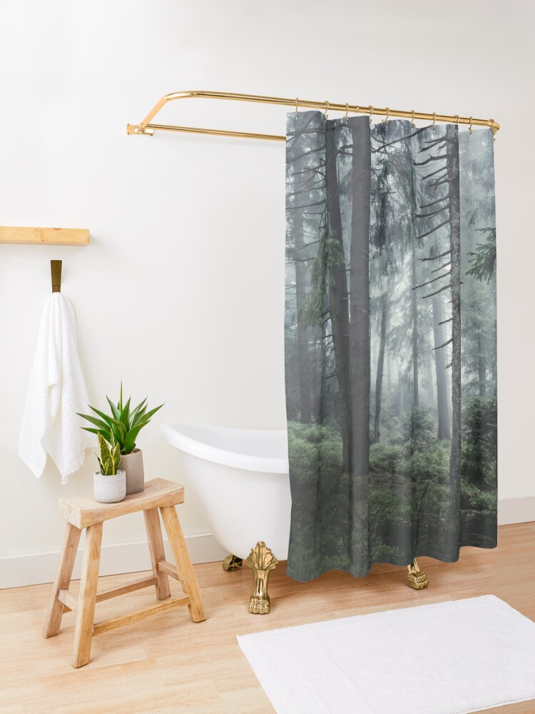 Alternate view of Path Vibes Shower Curtain