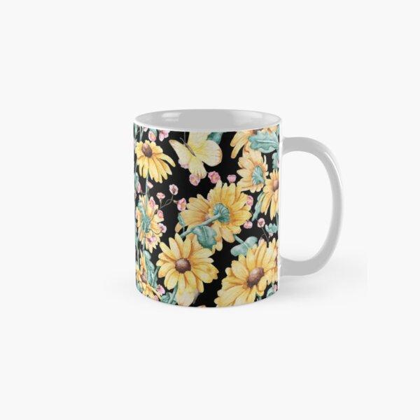 Moody Yellow Spring Bouquet // Fine Art Classic Mug