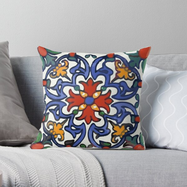 Talavera Royal Throw Pillow