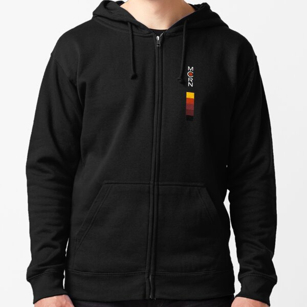 yellow red maroon dark and black color logo Zipped Hoodie