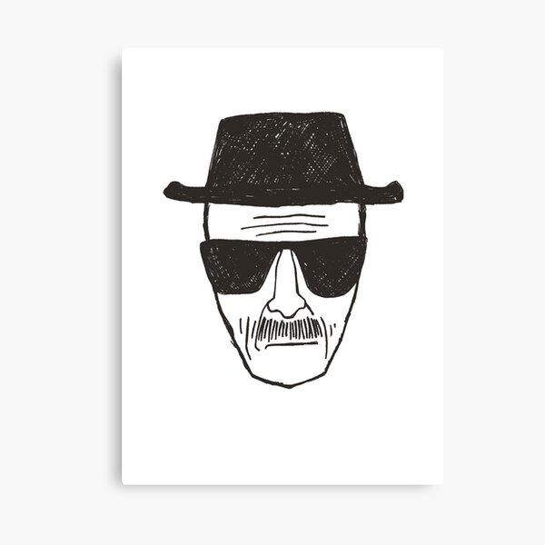 heisenburg head  Canvas Print
