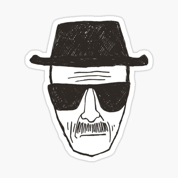 heisenburg head  Sticker