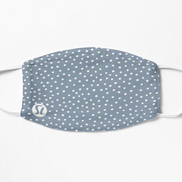 Blue and White Polka Dot Inspired Lululemon Logo Mask