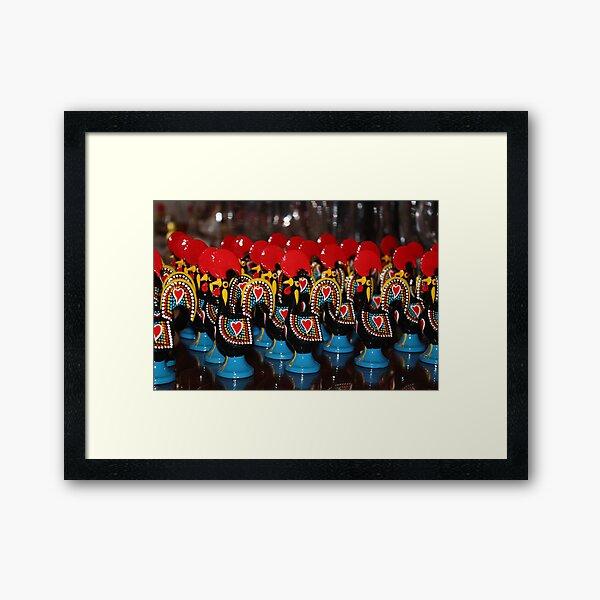 Rooster of Barcelos Portugal Framed Art Print