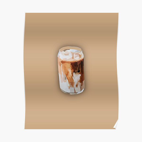 Iced Coffee Illustration  Poster