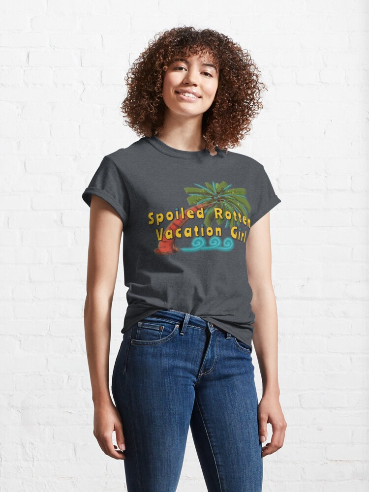 Alternate view of Spoiled Rotten Vacation Girl (Palm Tree) Classic T-Shirt