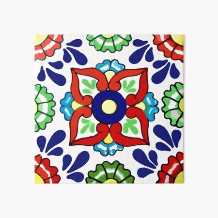Talavera Blue Drops Art Board Print