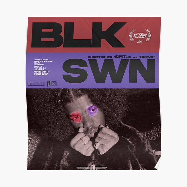 BLK SWN SMINO Poster
