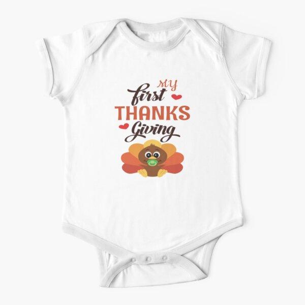 Grateful gobble Feast Turkey Boy Thanksgiving First Thanksgiving Gratitude Girl Blessed Little Blessing Baby Bodysuit Long Sleeve
