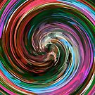 Modern Colorful Swirl Abstract Art #3 by Nhan Ngo