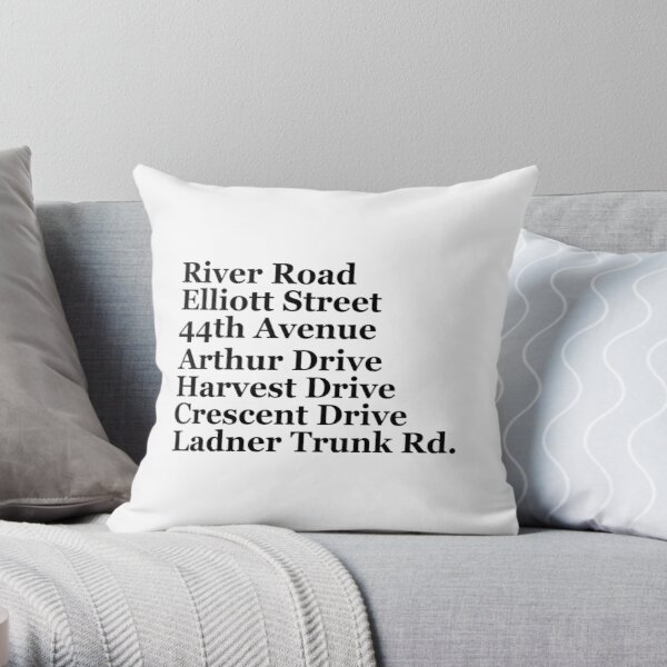 Ladner Streets Throw Pillow