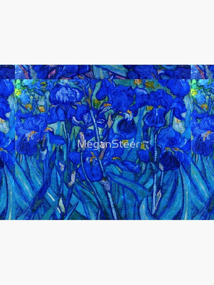 Van Gogh Irises in Indigo by MeganSteer