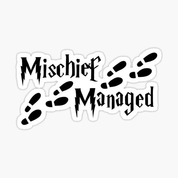 Harry Potter Mischief Managed Sticker