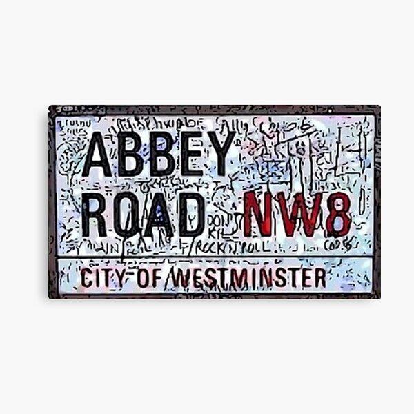 Letrero de la calle Abbey Road Lienzo