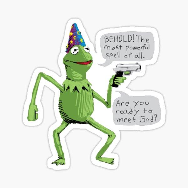 yer a wizard kermit shirt meme Sticker