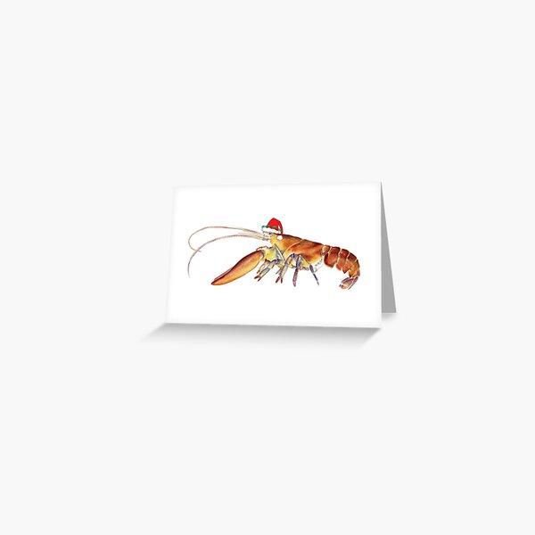 Lobster Santa Greeting Card