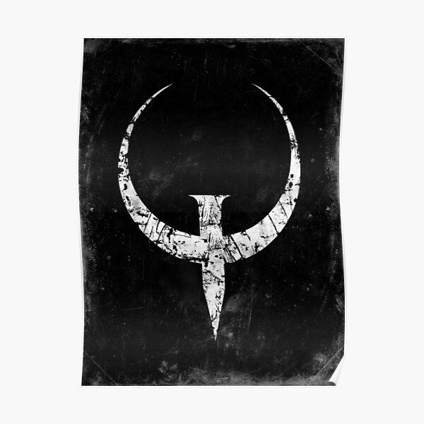 Quake - White Poster