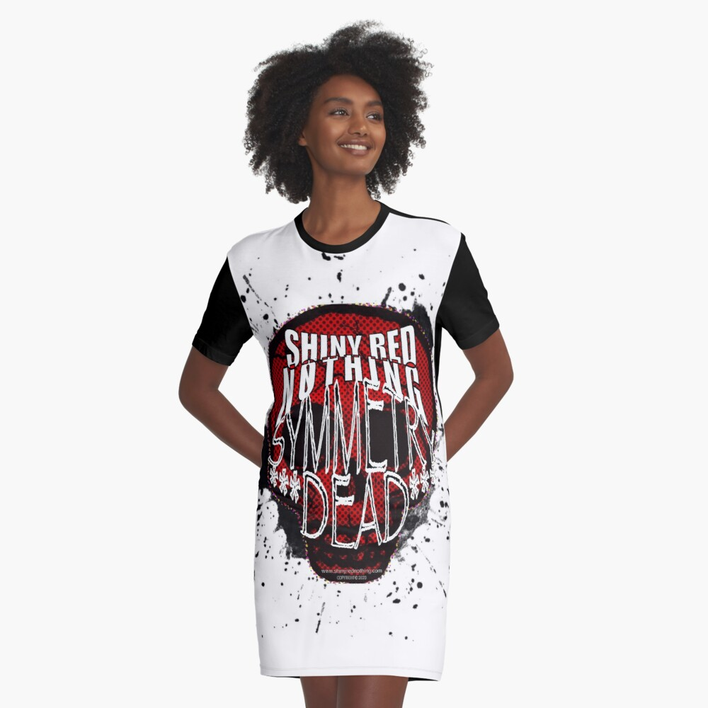 Shiny Red Nothing - Symmetry Dead  Graphic T-Shirt Dress