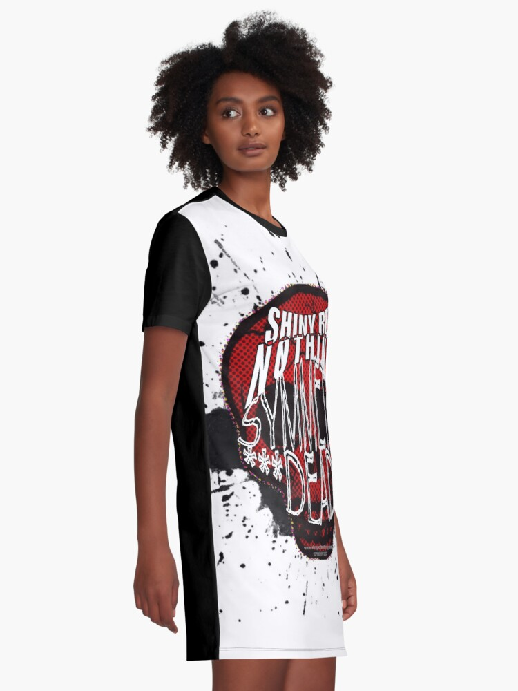 Alternate view of Shiny Red Nothing - Symmetry Dead  Graphic T-Shirt Dress