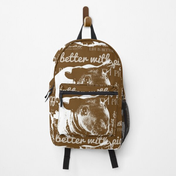 life is better with pigs Backpack