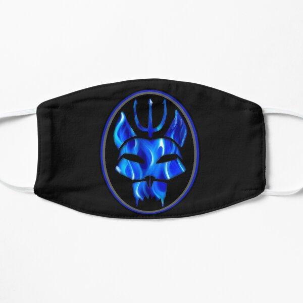 Siegel Team blaue Flamme Flache Maske