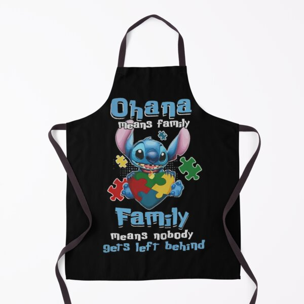 Ohana Stitch Family Gifts For Fans, For Men and Women, Gift Halloween Day, Thanksgiving, Christmas Day Apron