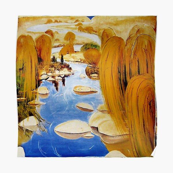 Brett Whiteley- 'Willows at Carcoar' (1978) Oil on board, by the great Australian artist. Poster