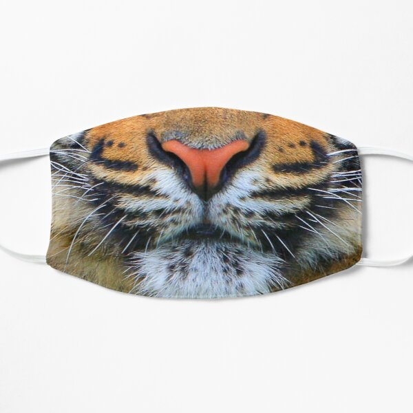 Wild Tiger Face Mask Flat Mask
