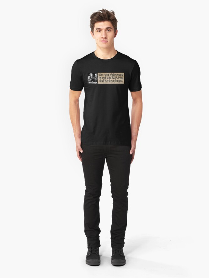 Alternate view of The 2nd Amendment Slim Fit T-Shirt