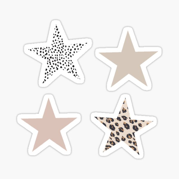 Neutral Boho Stars Sticker