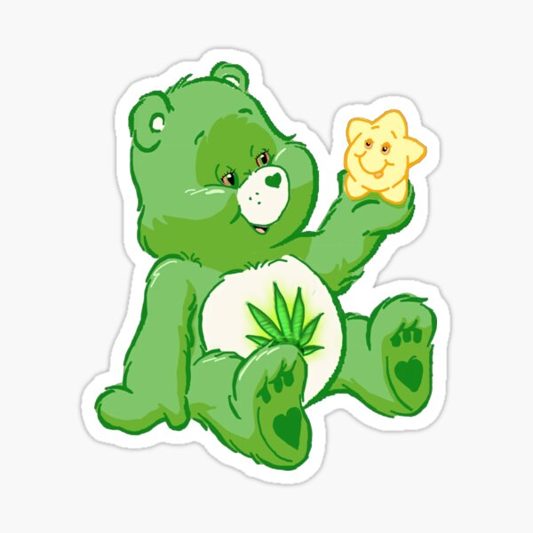 Stoner care bear  Sticker
