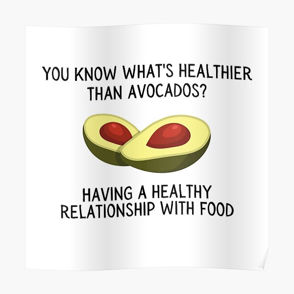 Having a Healthy Relationship With Food Poster